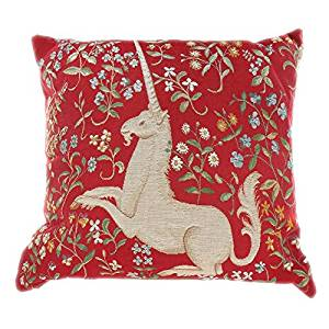 Get Quotations Throw Pillows Decorative Unicorn Red Needlepoint 16 Inch With Insert