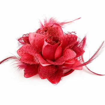 6fe449b360bbf Pretty gift flower brooch hairband hair clips fascinator flower feather for  decoration