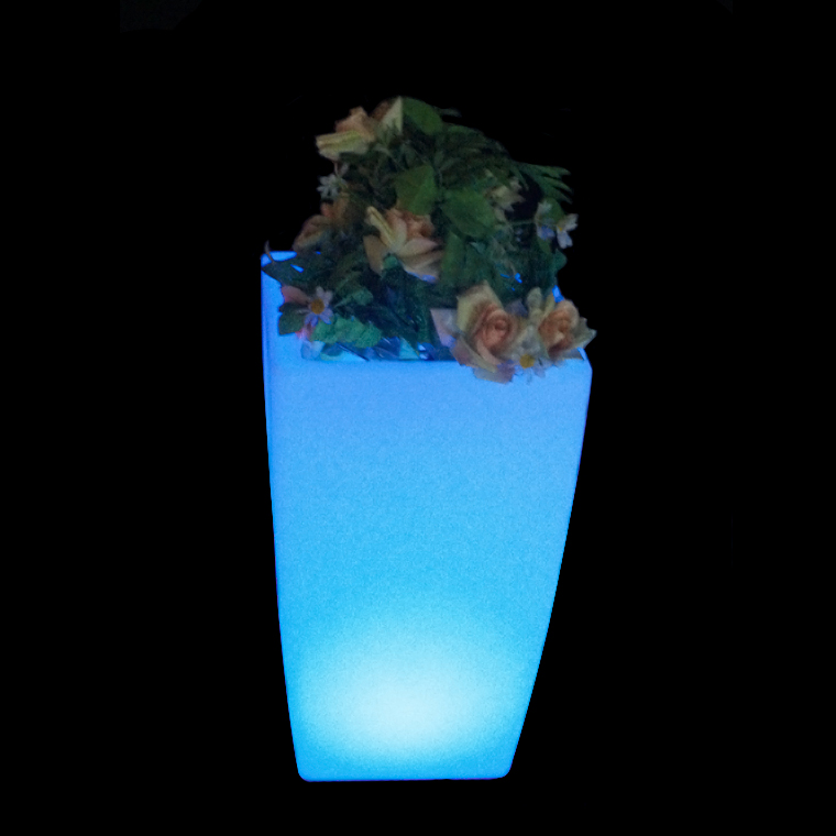 2016 Modern Tall Square Plastic Led Lighted Flower Vases Buy