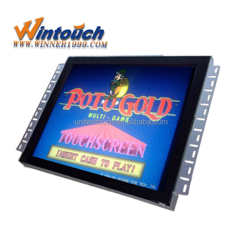 POG /WMS/IGT /T340/ FOX340 19inch lcd monitor with IR touch screen
