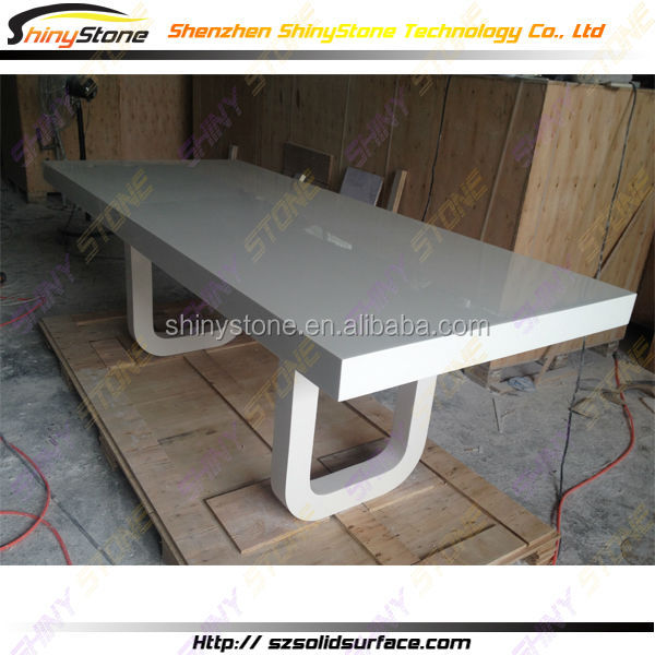 Adjustable solid surface single leg dining table buy for Single leg dining table