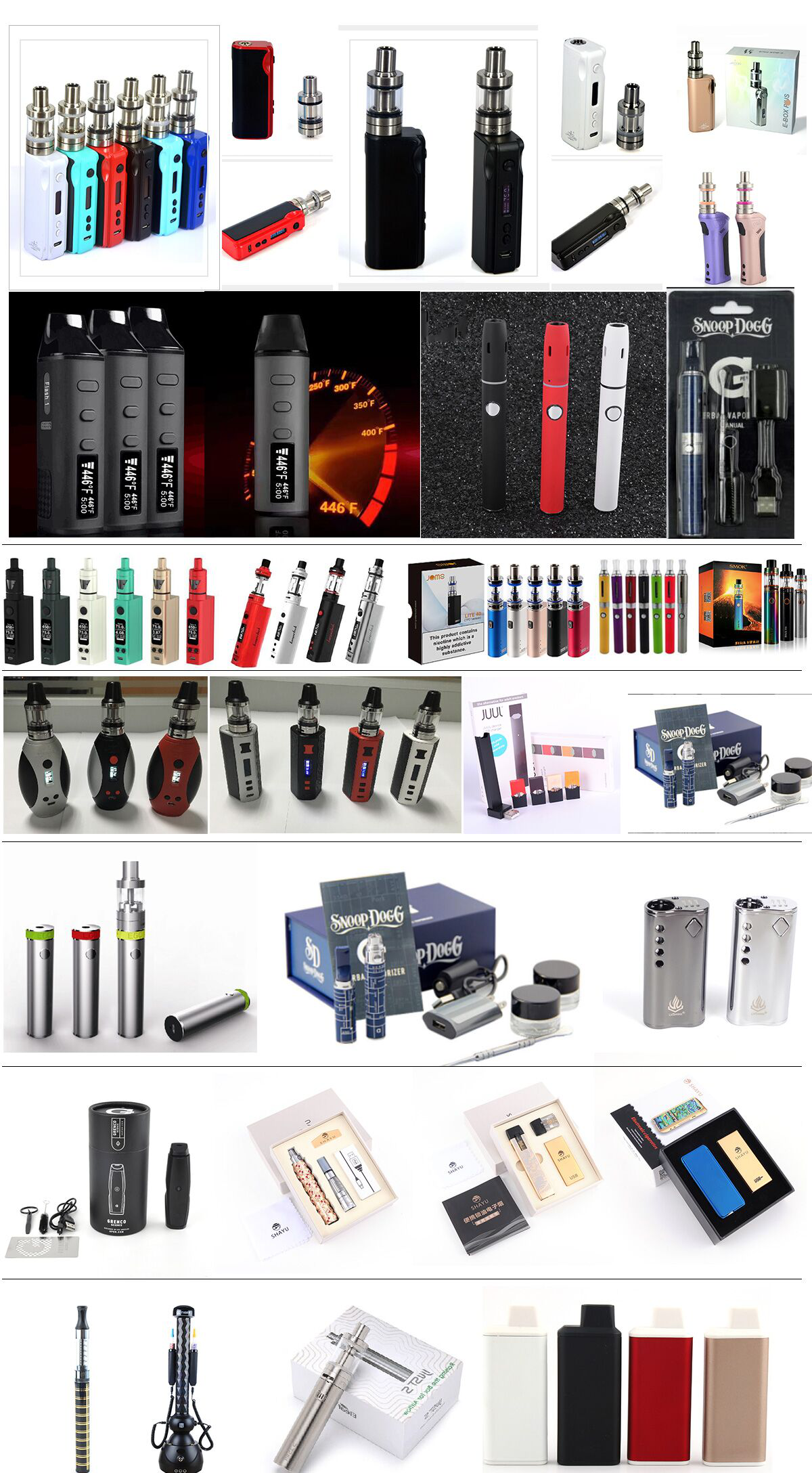 Kaiwei JL-186EC e liquid plastic bottle Disposable flavours hookah vaper pen e cig tobacco e juice E-cigarette Shisha