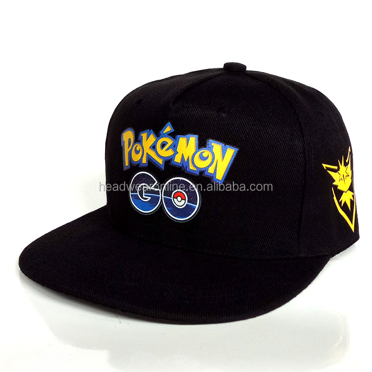 Climate Famous Game Cute Lovely Flat Snapback Caps New Pocket Monster Hat for Adult Men Women