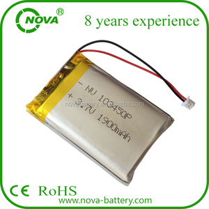 3.7v 1900mah 103450 li-ion prismatic battery