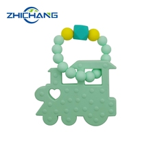 Eco-friendly baby silicone beads teething toys