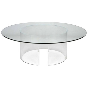 Clear Acrylic Coffee Table V Bases Pair Clear Acrylic Cocktail Table Clear Lucite Dining Table