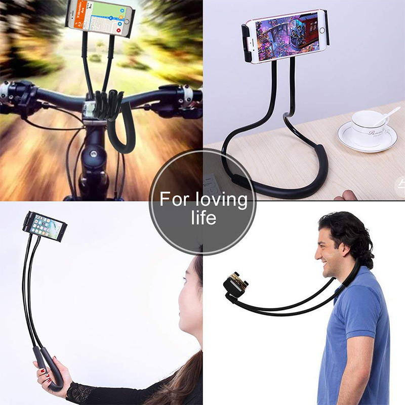 Hot on stock wrist flexible hands bed bracket lazy neck cell phone holder, arm mobile phone lazy neck phone holder