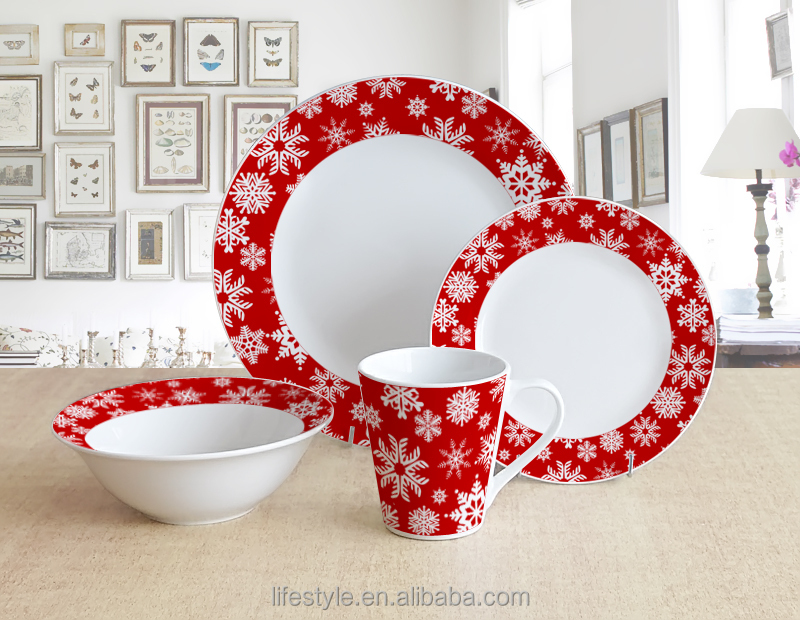 16pcs Christmas Dinner Sets,Porcelain With Decal - Buy Fine ...