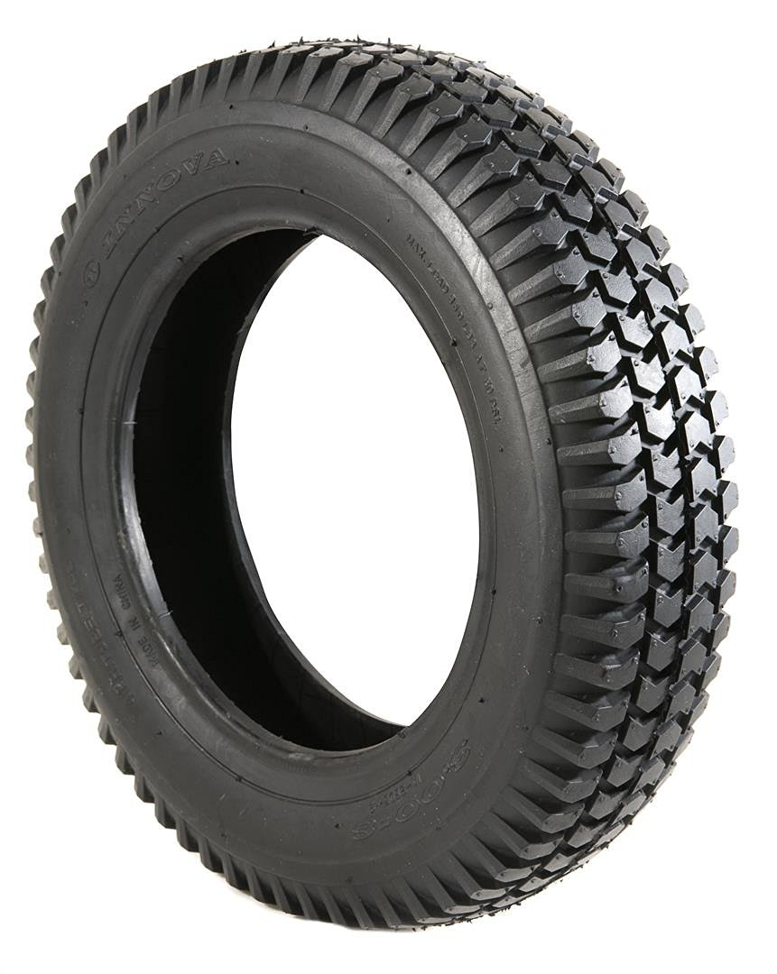 2 Black Solid Block Tread Mobility Scooter Tyres 300 x 8 (3.00-8)