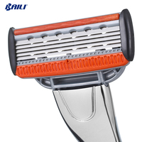 Innovative 5 Blade Razor with Swedish Blades and Trimmer