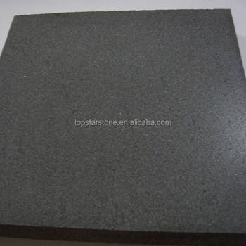 Honed China Lava Stone Hainan Black Basalt Stone Floor Tile Buy
