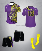 Customized Sublimation Rugby Wear Shirt And Shorts Jerseys Uniforms