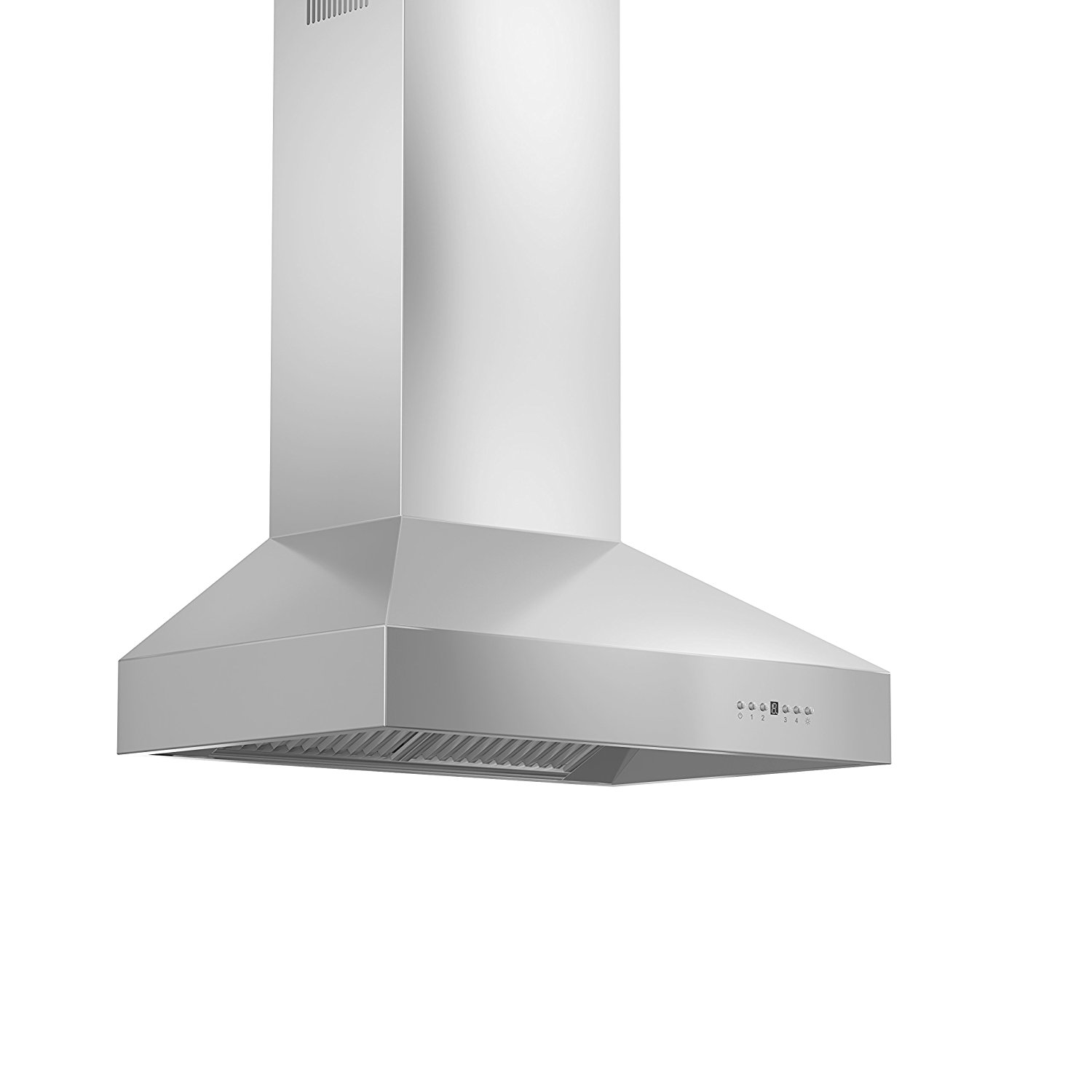 "1200 CFM Ducted Wall Mounted Range Hood Size: 16.38"" H x 42"" W x 27.5"" D"