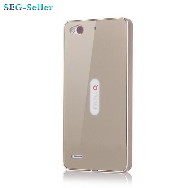 "Plastic Back Cover &Aluminum Frame For ZTE Nubia Z7 Mini 5.0"" Luxury Mobile Phone Case For Z7mini Gift Screen Protectors SJ0343"