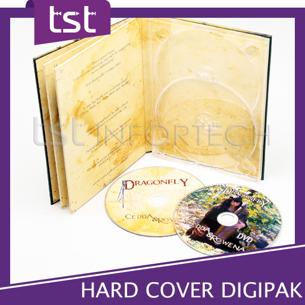 Custom cardboard hardcover DVD digipak