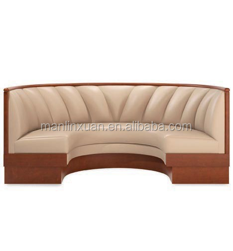 wood half circle night club sofa set XDW2019