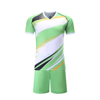 6629d2837 Soccer Wear Top Quality Dry Fit Cheap Custom Training Green white Soccer  Uniform Kit Sublimated Soccer