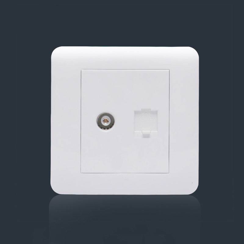 Concise Design Hidden Socket Wall Plugs, TEL Socket With Single USB