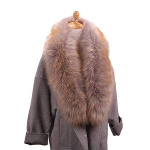 2018 High Quality Fashion Men And Women Winter Long Style Fur Collar
