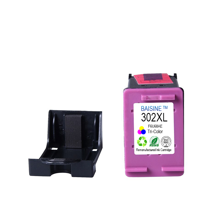 Hot Selling Baisine Compatible for HP ENVY 4522 4525 4528 All-in-One Printer Ink Cartridge 302XL Reman Ink Cartridge 302XL 302