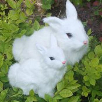 realistic bunny handmade plush toy animal small white rabbit craft
