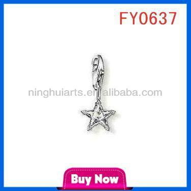 tiny star silver pendant thailand handmade jewelry whol pendant
