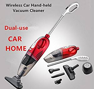 Car & Home Vacuum Cleaner Dry & Wet Dual-Use Wireless Vacuum Cleaner 80W Rechargeable Household / Car Vacuum Cleaner In Addition To Mites Brush JK-010 (Red)
