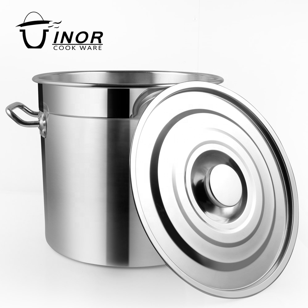 big volume tall straight-shape soup stew pots for commercial cooking