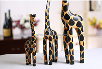 N540 Cute 3 in 1Hand Painted Giraffe Gifts Logs Animal Craft Decoration