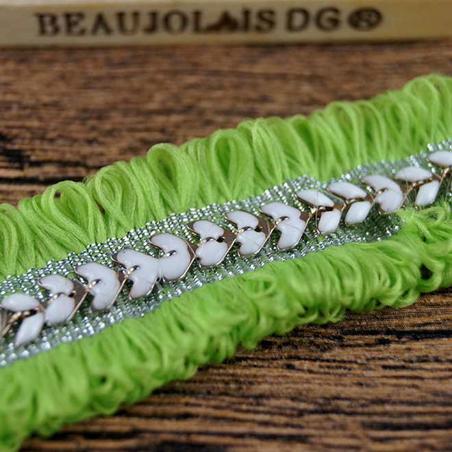 New Beaded Bridal lace trim Woven Elastic Decoration Curtain Tape