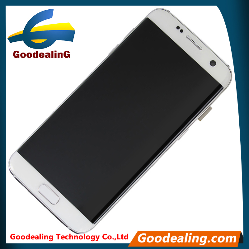 Repair use spare parts phone screen with bezel for Samsung Galaxy S7 Edge G935 lcd sceen digitizer