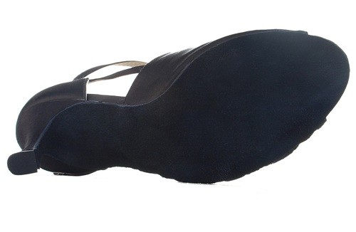 Latin dance shoes black color for woman