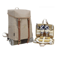 Picnic Backpack for 2 Stylish All-in-One Portable Picnic Bag with Complete Cutlery Set Picnic Basket