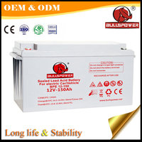 long life 12v 150ah battery lead acid battery for electric car/vehicle battery