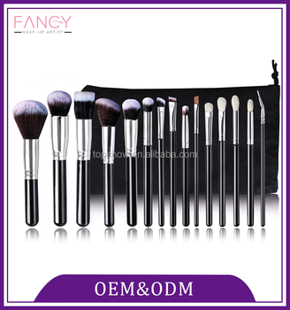 Best price 15pcs personalized private high quality makeup brush set, professional makeup brush set