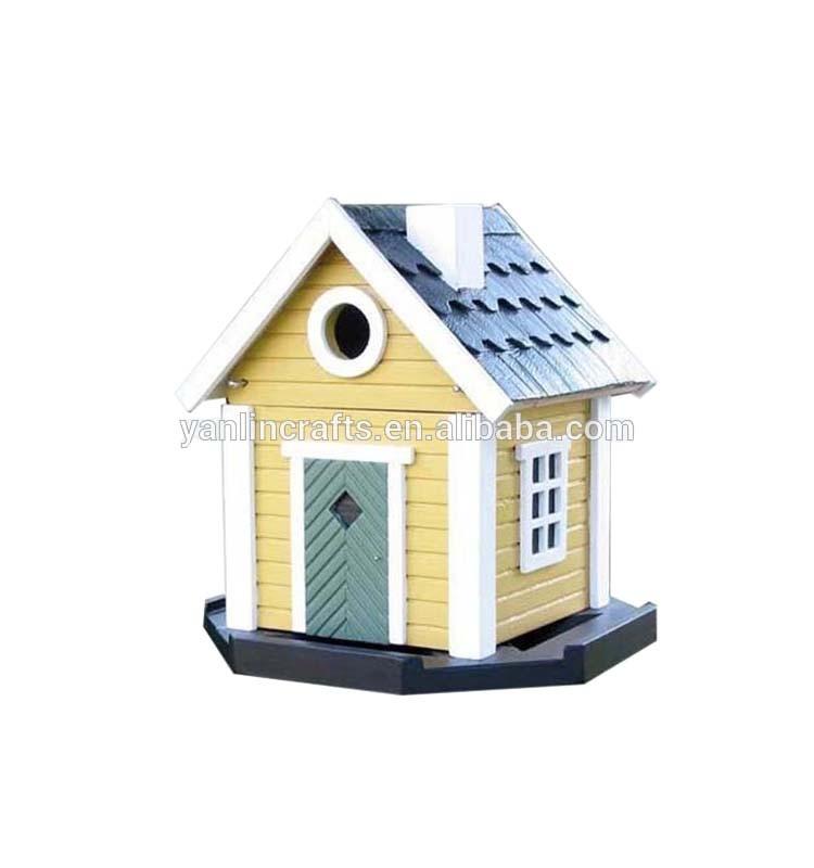 d cor es oiseau en bois maison en bois nid d 39 oiseau cage. Black Bedroom Furniture Sets. Home Design Ideas