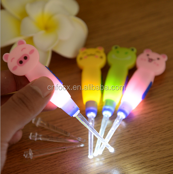 Cartoon Safety LED Flashlight Ear Pick Ear Cleaner Curette Ershao Earwax Remover Ear Care Tool for Baby Children