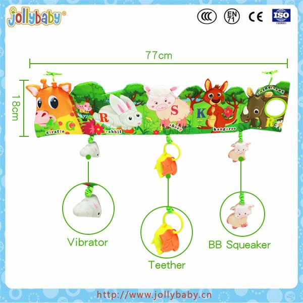 Baby learning bed cloth book ,soft cloth book