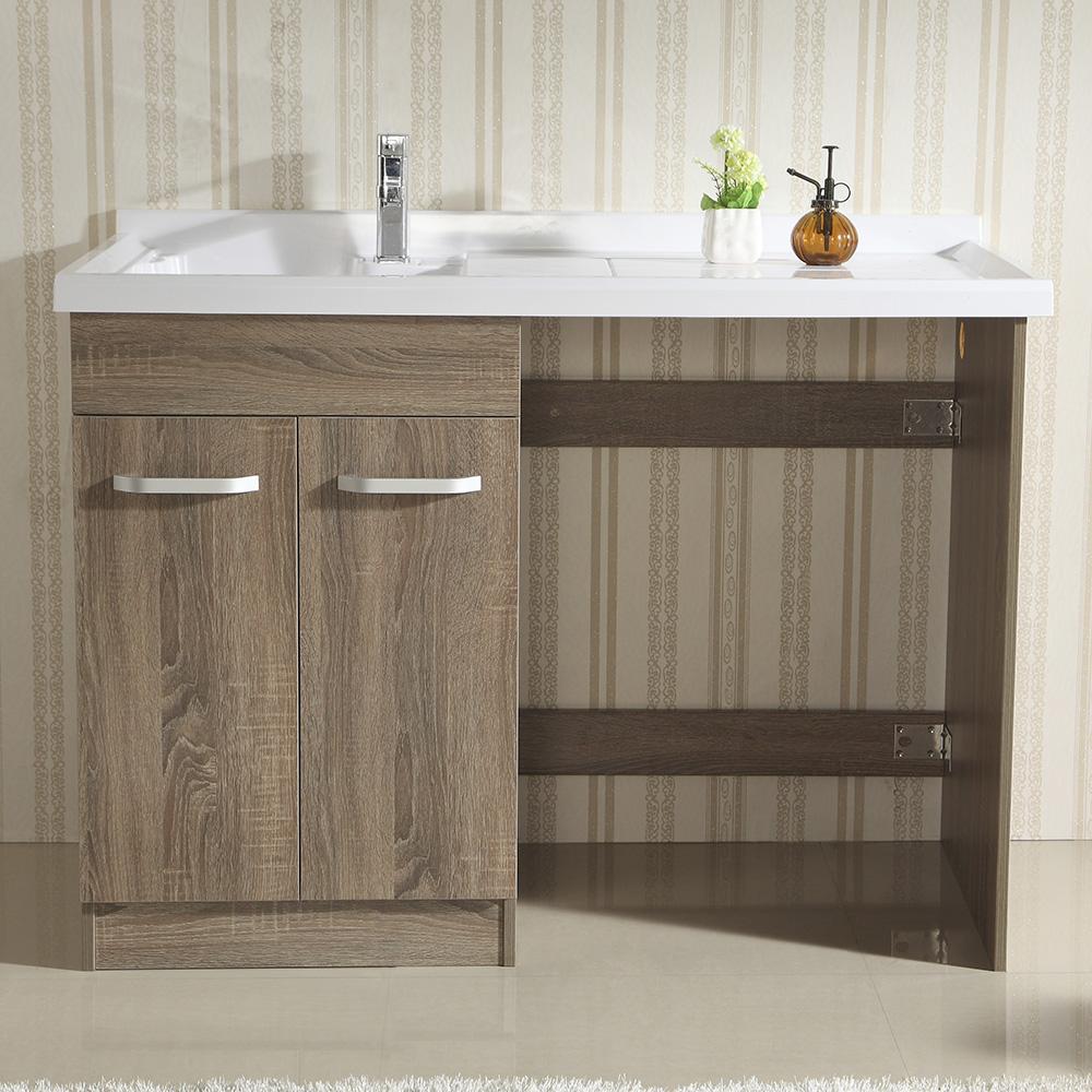 Badkamermeubel kast - Exotisch onder wastafel houten meubilair ...