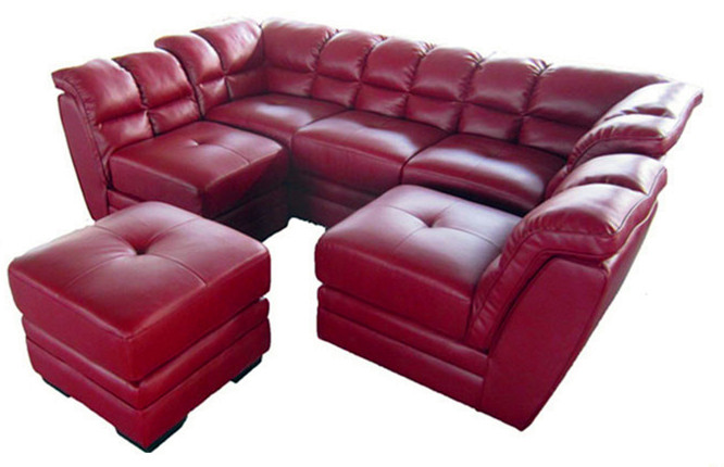 Moderne sofa sectionnel cuir canap lit 5 seater sofa set for Sofa lit cuir