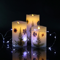 Most wonderful gifts LED dried flowers swing candle bulbs with 3*AAA battery