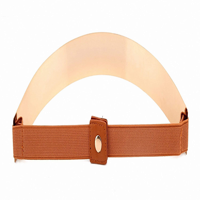Get Quotations · Baolustre New Fashion Women S Belt Elastic Mirror Metal Waist  Belt Metallic Glisten Gold Plate Wide Obi c1bacd2dd