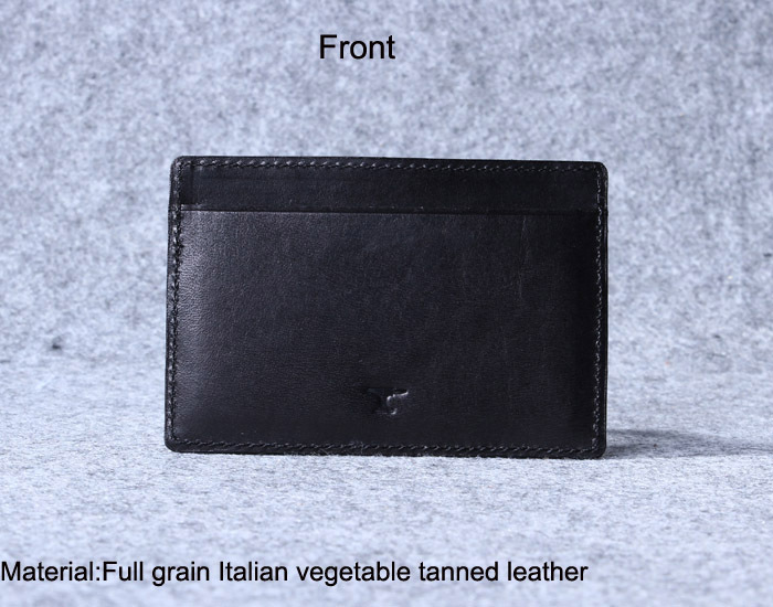 Black leather card holder men and women giftgenuine leather slim black leather card holder men and women giftgenuine leather slim business card wallet colourmoves Image collections