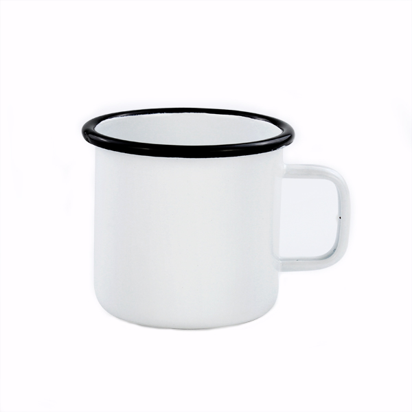 custom design decal printing carbon steel enamel mug/mug for sublimation wholesale/forcreative people
