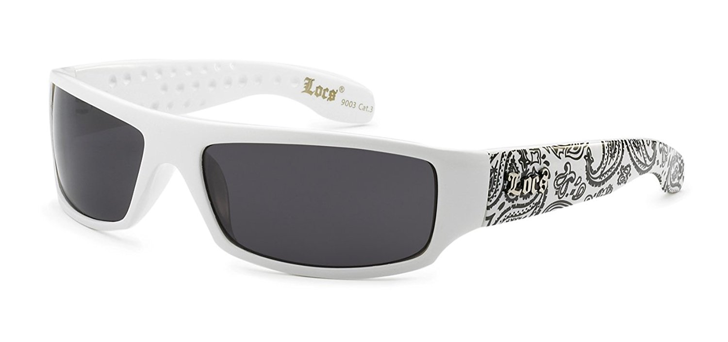 537d0806a7 Get Quotations · 5Zero1 Locs Mens Fashion Hardcore Gangster Cool Shades  Bandana Print Two Tone Sunglasses