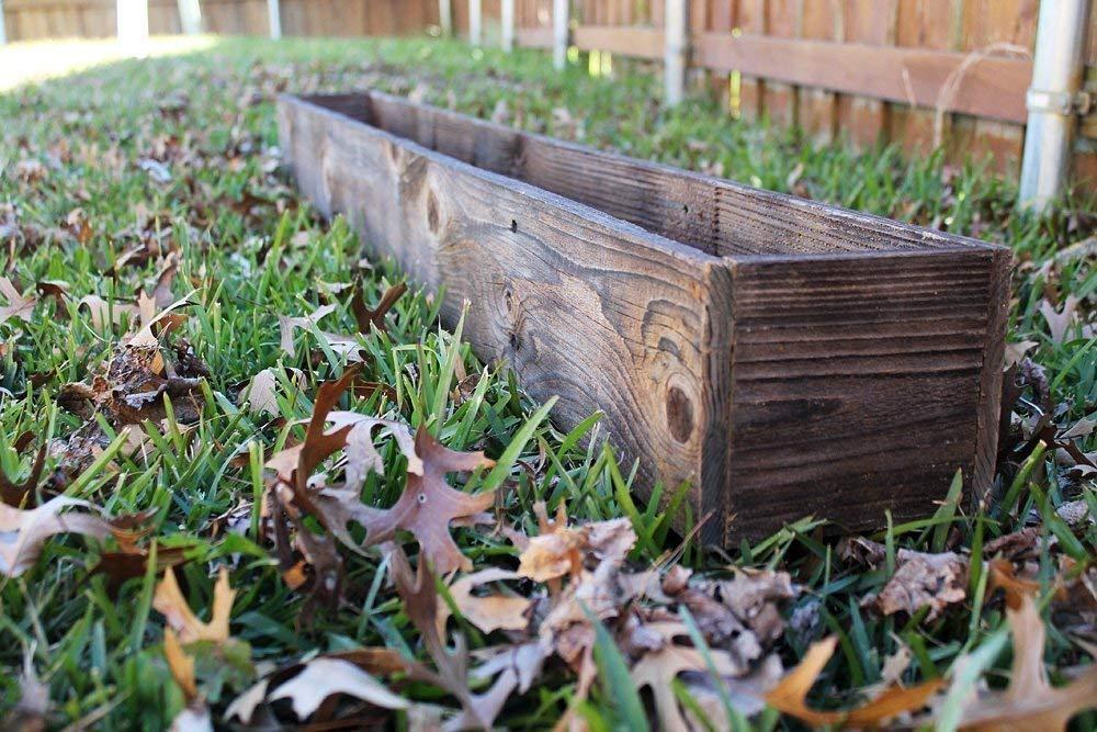 "50"" - 60"" Rustic Planters Box (3.25-3.75""T - Short Version)"