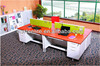 white expandable computer desk designs / durable wooden top office table for workers