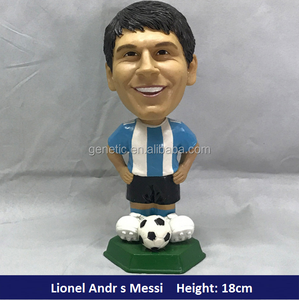 Wholesale Sports Star World Cup Famous Soccer Player Figurine Bubble Head Football Player Statue Bobble Head in Resin Crafts