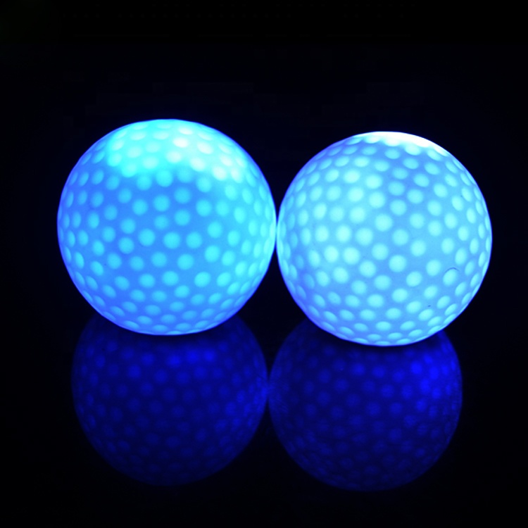 Personalizado Multi-Cor do Brilho No Escuro LED Light Up Piscando Bolas De Golfe