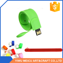 Top fashion trendy style slap wristbands USB flash drive